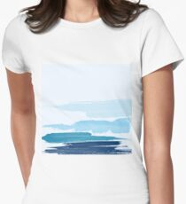 Water Brush Stroke Women's Fitted T-Shirt