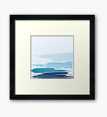 Water Brush Stroke Framed Print