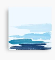 Water Brush Stroke Canvas Print
