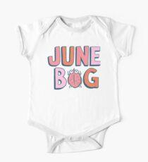 June Bug Onesie (pinks) Short Sleeve Baby One-Piece