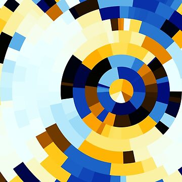 Blue white concentric rings by rupertrussell