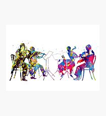 Orchestra,classical music,musicians,instrumental music,watercolor art Photographic Print