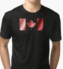 Canadian Flag - Canada - Metallic Tri-blend T-Shirt