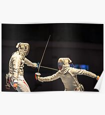 Fencing Sport Poster