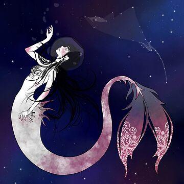 Space Mermaid by jubimoon-art