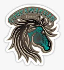 Horse Nation (Aqua) Sticker