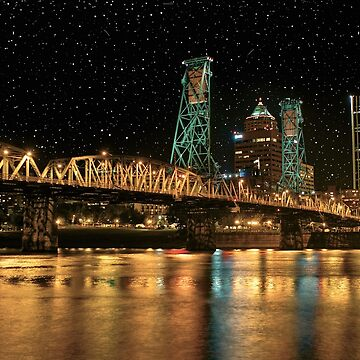 Over the Willamette Under the Stars by ScHPhotography