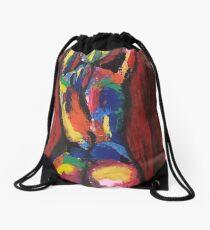 Abstract figurative art Drawstring Bag