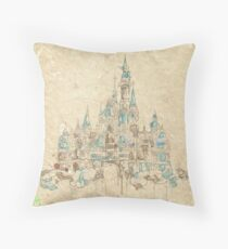 Enchanted Storybook Castle Throw Pillow