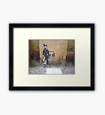 Banksy Kid Framed Print