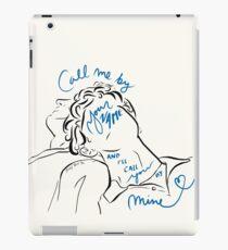 Ruf mich mit deinem Namen an und ich nenne dich bei meiner Illustration und Kalligraphie iPad-Hülle & Klebefolie