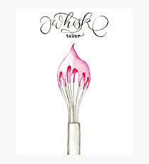Whisk Taker - Frosting Whisk Photographic Print