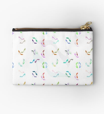 I love shoes! Colourful shoes seamless pattern  Zipper Pouch