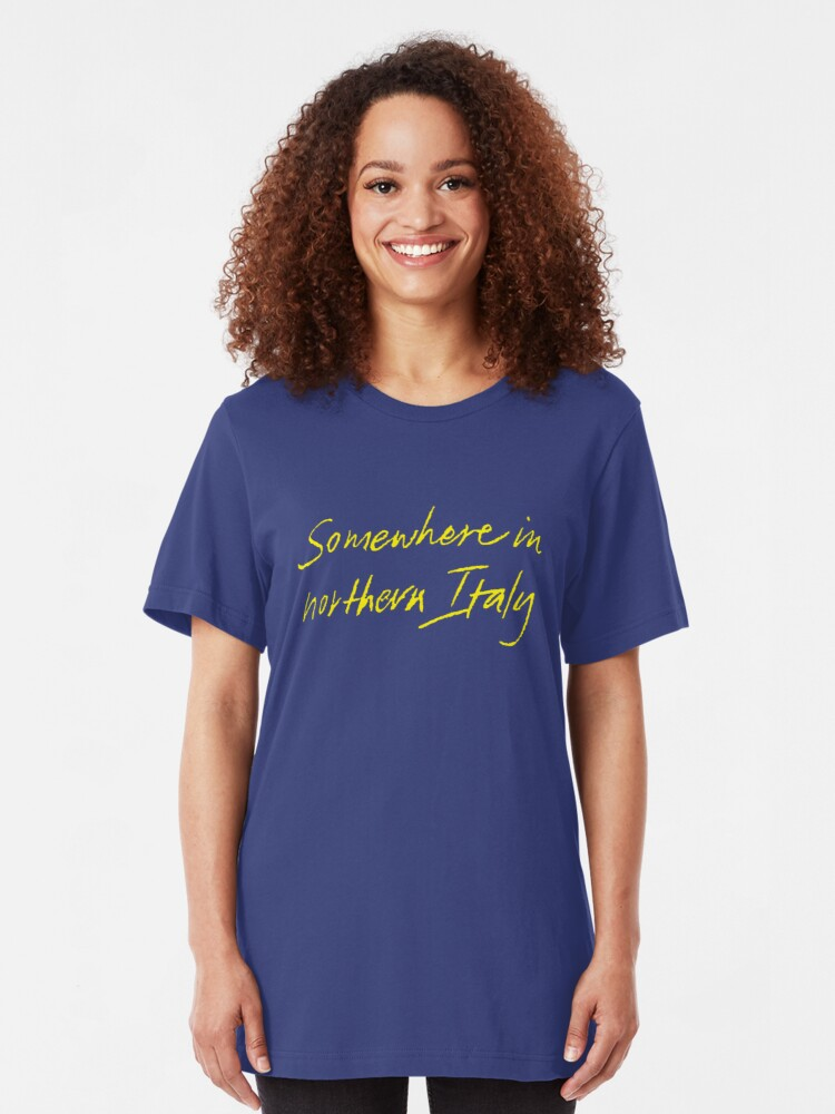 Alternate view of somewhere in northern italy Slim Fit T-Shirt