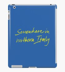somewhere in northern italy iPad Case/Skin