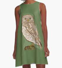 Little Owl A-Line Dress