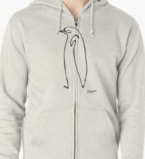 Picasso Penguin Zipped Hoodie