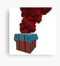 PUBG - Crate Flame Canvas Print