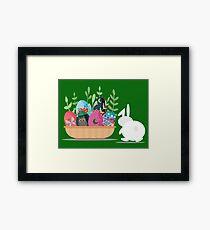 easter bunny basket Framed Print