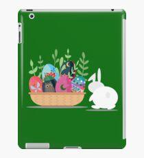 easter bunny basket iPad Case/Skin