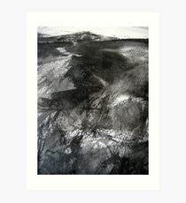 dark ridge before the peak Art Print