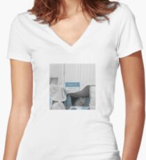 White Dog - what's the password Women's Fitted V-Neck T-Shirt