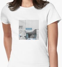 White Dog - what's the password Women's Fitted T-Shirt