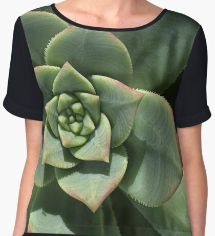 Greens Of Hens And Chicks Women's Chiffon Top