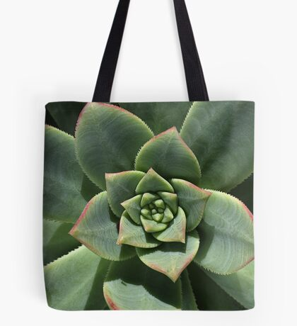Greens Of Hens And Chicks Tote Bag