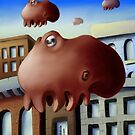 Floating Octopus by Byron  McBride