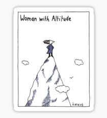 Woman With Altitude Sticker