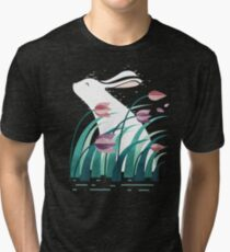 Rabbit, Resting Tri-blend T-Shirt