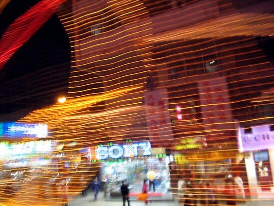 Streetscene, Hong Kong by John Douglas