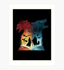 Book of Fire and Ice Art Print