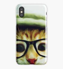 Vintage Cat Wearing Glasses iPhone Case/Skin
