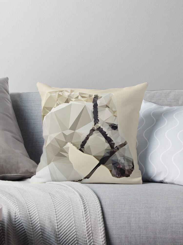 Geometric White Horse by MyArt23