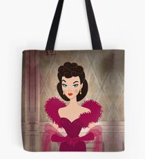 Burgundy dress Tote Bag