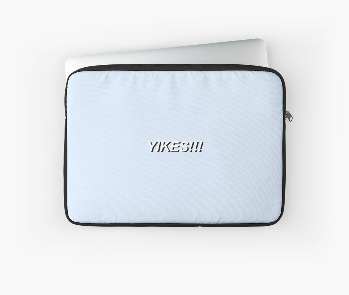yikes tumblr aesthetic pop art laptop sleeves by auserie redbubble