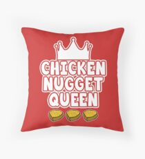 Chicken Nugget Queen Throw Pillow