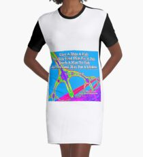 Give A Man A Fish Graphic T-Shirt Dress