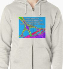 Give A Man A Fish Zipped Hoodie