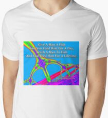 Give A Man A Fish V-Neck T-Shirt
