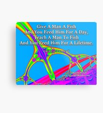 Give A Man A Fish Metal Print