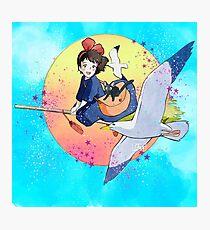 Kikis Delivery Service ( Studio Ghibli Fanart 5 ) Photographic Print