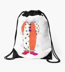 Clown Paper Doll  Drawstring Bag
