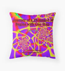 The Journey of a Thousand Miles Throw Pillow