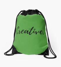 Creative Be Creative Logo Minds Quote Print Gifts Artistic Piece Decor Print Imaginative Art Imaginative Wall Art Gift  Drawstring Bag