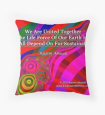 We Are United Throw Pillow