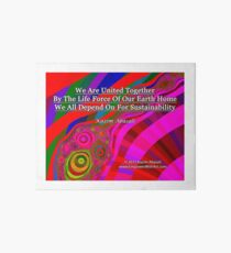 We Are United Art Board Print