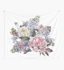 Watercolor Bouquet Wall Tapestry